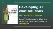 Creating Virtual Assistants: designing AI-based chat solutions