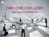 CRM, CMR, CEM, sCRM - what's it called again?