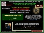 [Slideshare] tafaqqahu-#6-(january-2017)-lesson-#1d -'muslim's education'-keynote-pt-1-(11-february-2017)