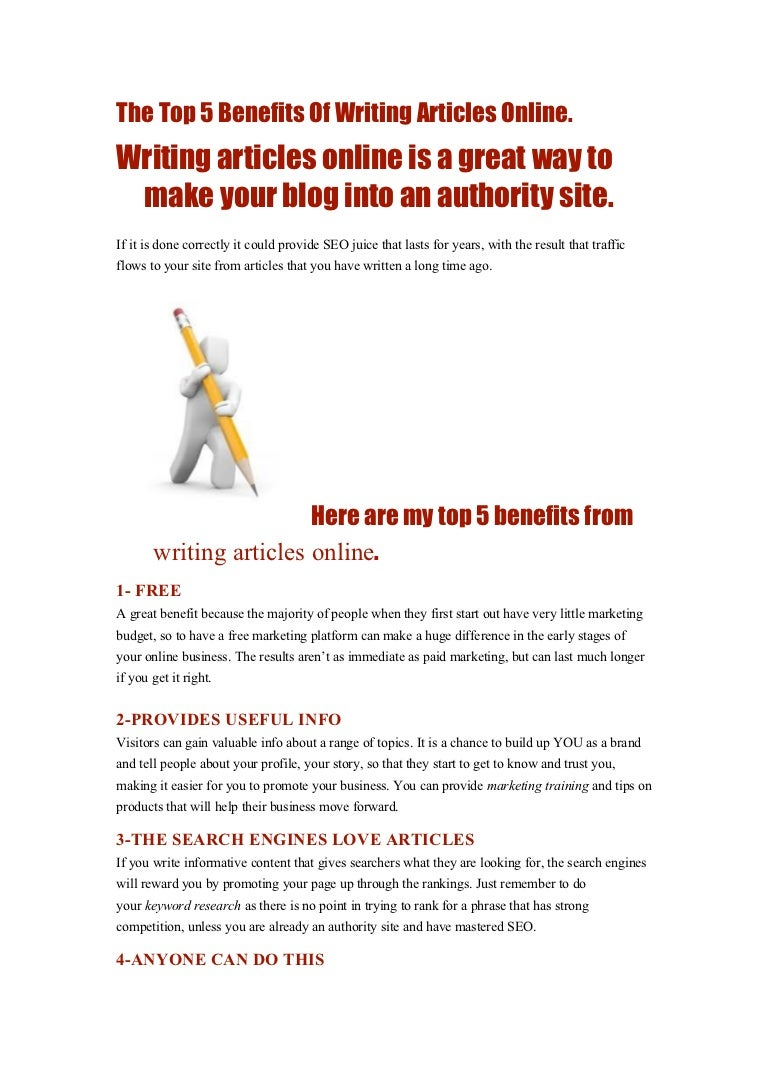 the top benefits of writing articles online
