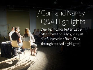 Q&A Highlights with Nancy Duarte and Garr Reynolds