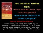 Turning Research Topic into an Argument