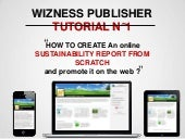 Wizness Publisher Tutorial N° 1 : Create a Sustainability Report Online & Publish It…