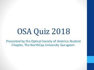 OSA Quiz 2018