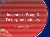 Indonesia Soap & Detergent Industry