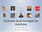 Corporate Social Strategists on SlideShare