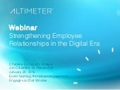 [Slides] Strengthening Employee Relationships in the Digital Era by Altimeter Group