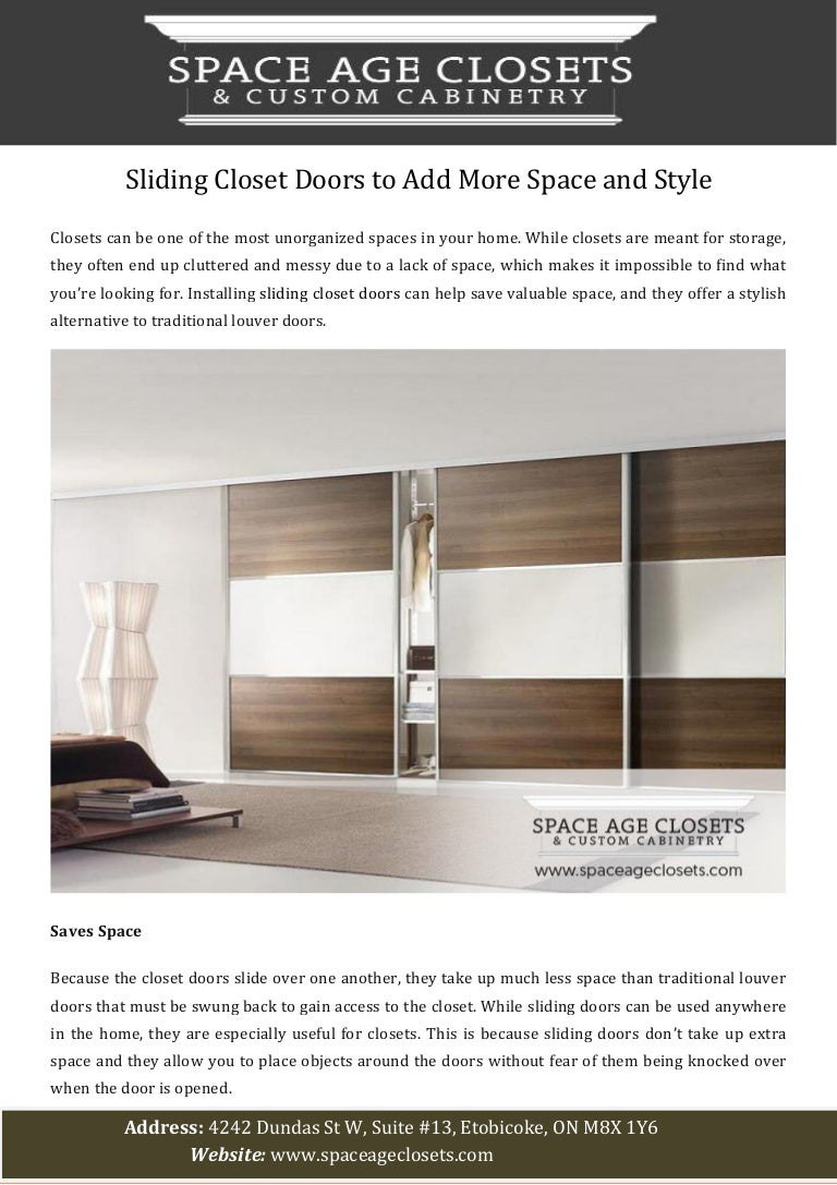 Picture of: Sliding Closet Doors To Add More Space And Style
