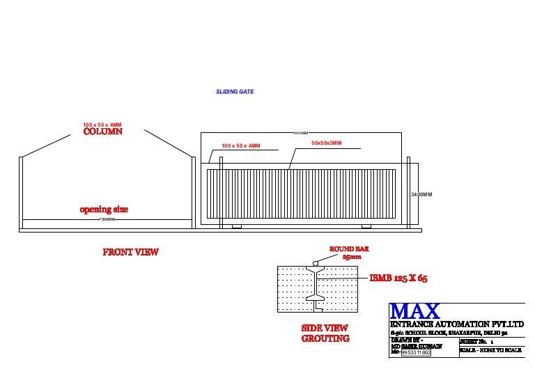 sliding gate plans free.  slidinggatedrawing 130201053454 phpapp01 thumbnail 4 jpg cb 1405650458