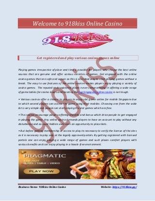 agen game slot online