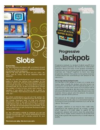 Slots and progressive jackpot casino games goa