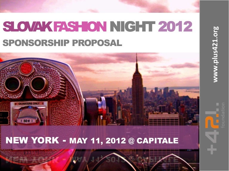 Slovak Fashion Night 2012 Sponsorship Proposal