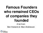 Famous Founder CEOs