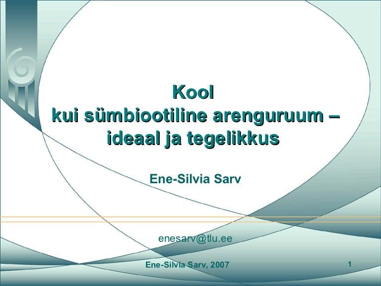 201a234768f Kool kui sümbiootiline arengukeskkond - ideaal ja tegelikkus