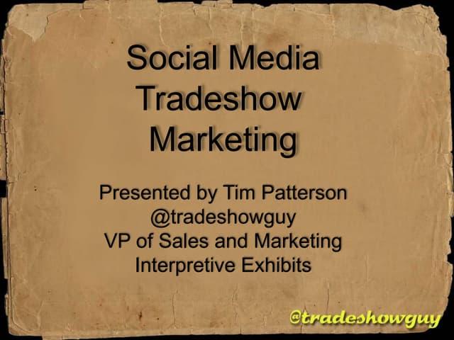 Social Media Tradeshow Marketing Webinar