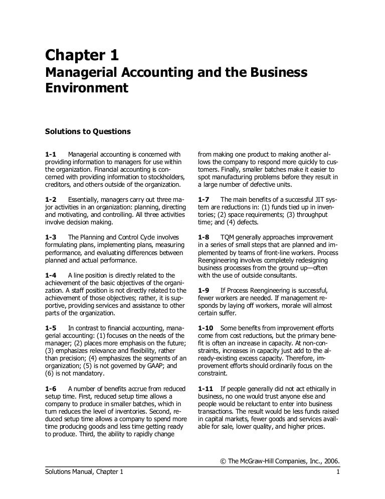 Managerial accounting 15th edition pdf dolapgnetband garrison norren 11th ed managerial accounting solution of chapter 1 fandeluxe Images
