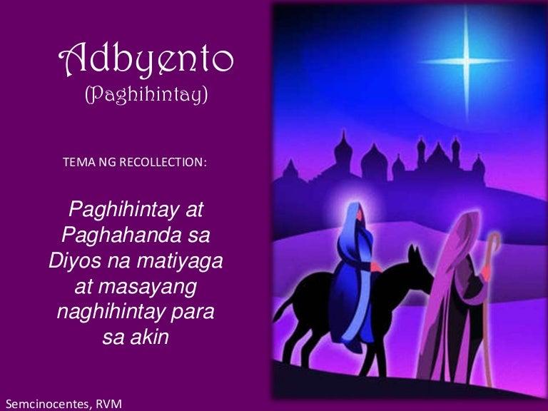 advent recollection prayer points tagalog. Black Bedroom Furniture Sets. Home Design Ideas