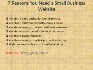 Why You Need a Small Business Website in Online