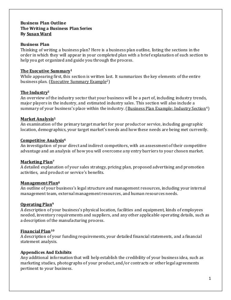 Business plan order