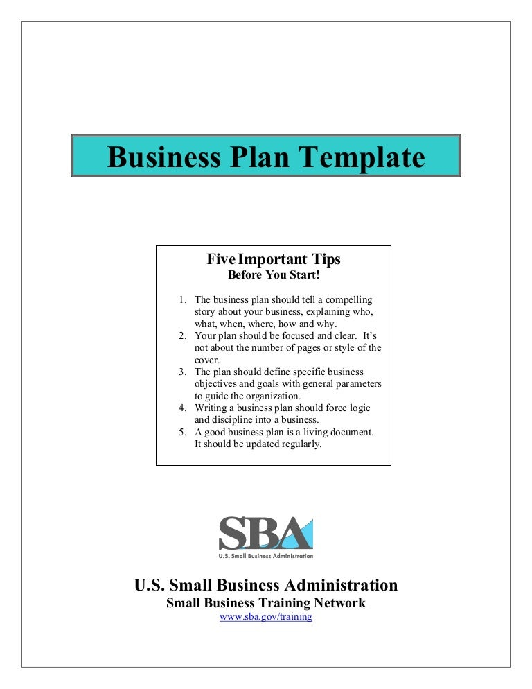 Small Business Plan Template - Online business plan template