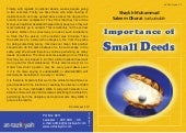 Importance of Small Deeds