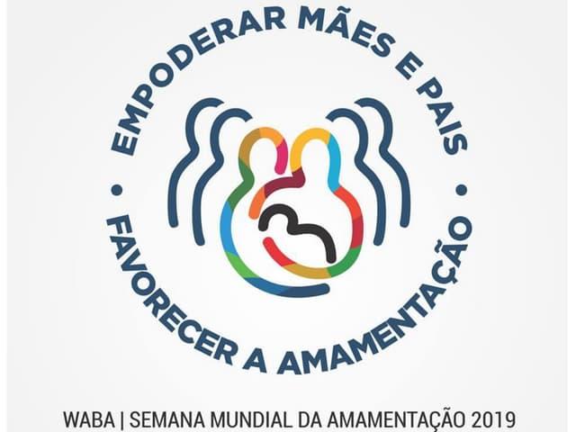 SMAM 2019: logo da WABA em português #AgostoDourado