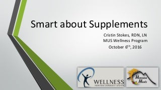 MUS Webinar: Smart about Supplements