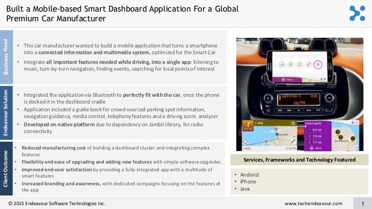 Mobile-based Smart Dashboard Application for a Global
