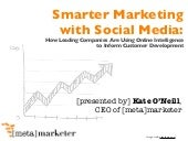 Smarter Marketing with Social Media