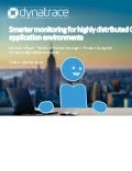 Smarter Monitoring for Highly Distributed Cloud Foundry Application Environments