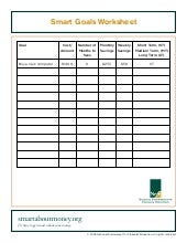 Zig Ziglar Goal Worksheet