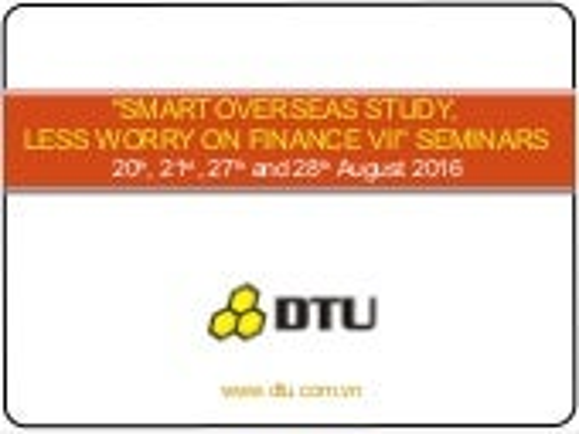 Seminars: Smart overseas study less worry on finance vii