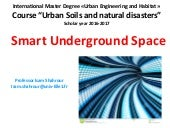 "Master Degree Lecture ""Smart Underground Space"""