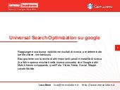 Universal Search Optimization su Google