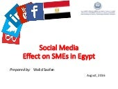 Facebook effect on SMEs in Egypt