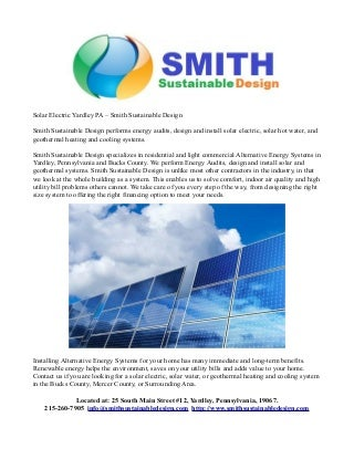 Smith sustainable design