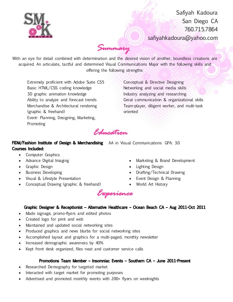 smk resume - Sample Resume Communications Major