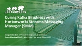 Curing Kafka Blindness with Hortonworks Streams Messaging Manager