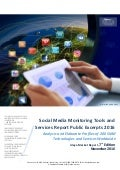 Social Media Monitoring Tools and Services Report Excerpts 2016