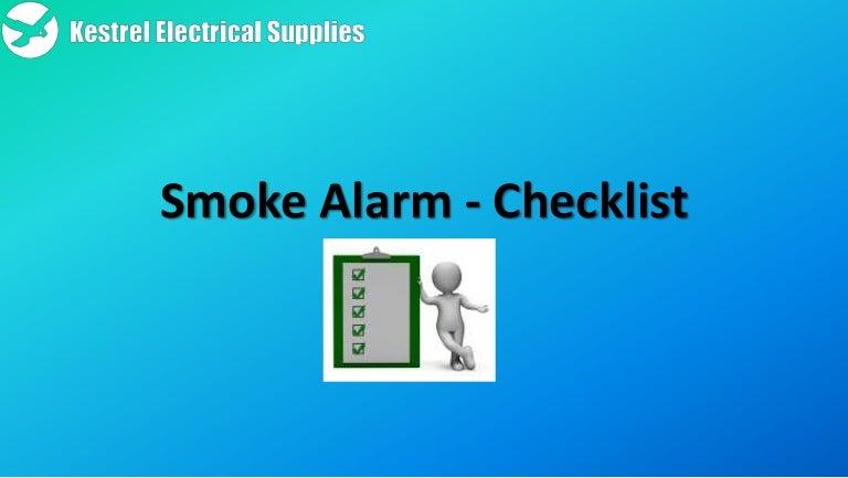 Smoke alarm checklist