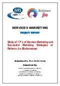 Study on 7Ps of Reliance Jio in Bhubaneswar
