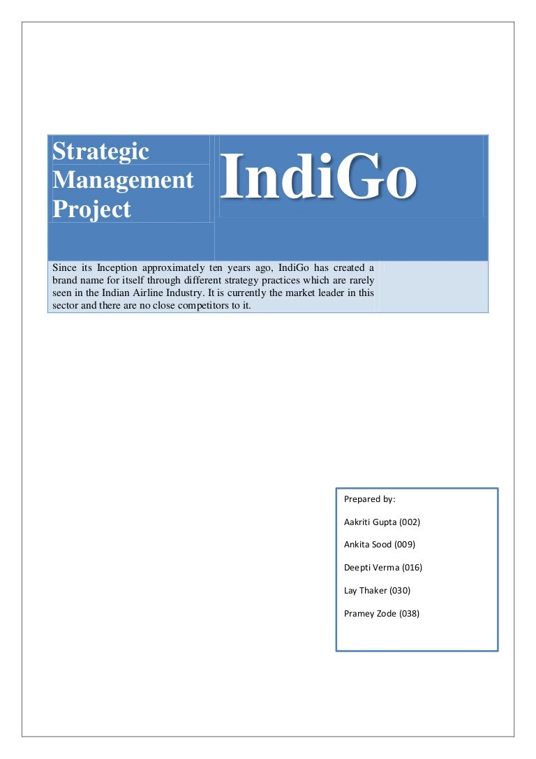 Strategy Management at IndiGo Airlines