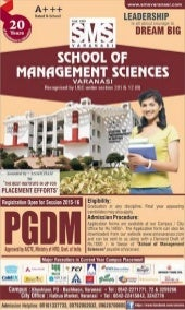 SMS Varanasi Announces Admissions to PGDM Programme (2015-17)