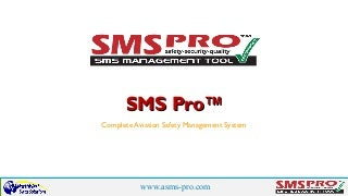 Airline Airport Safety SMS Software Configuration