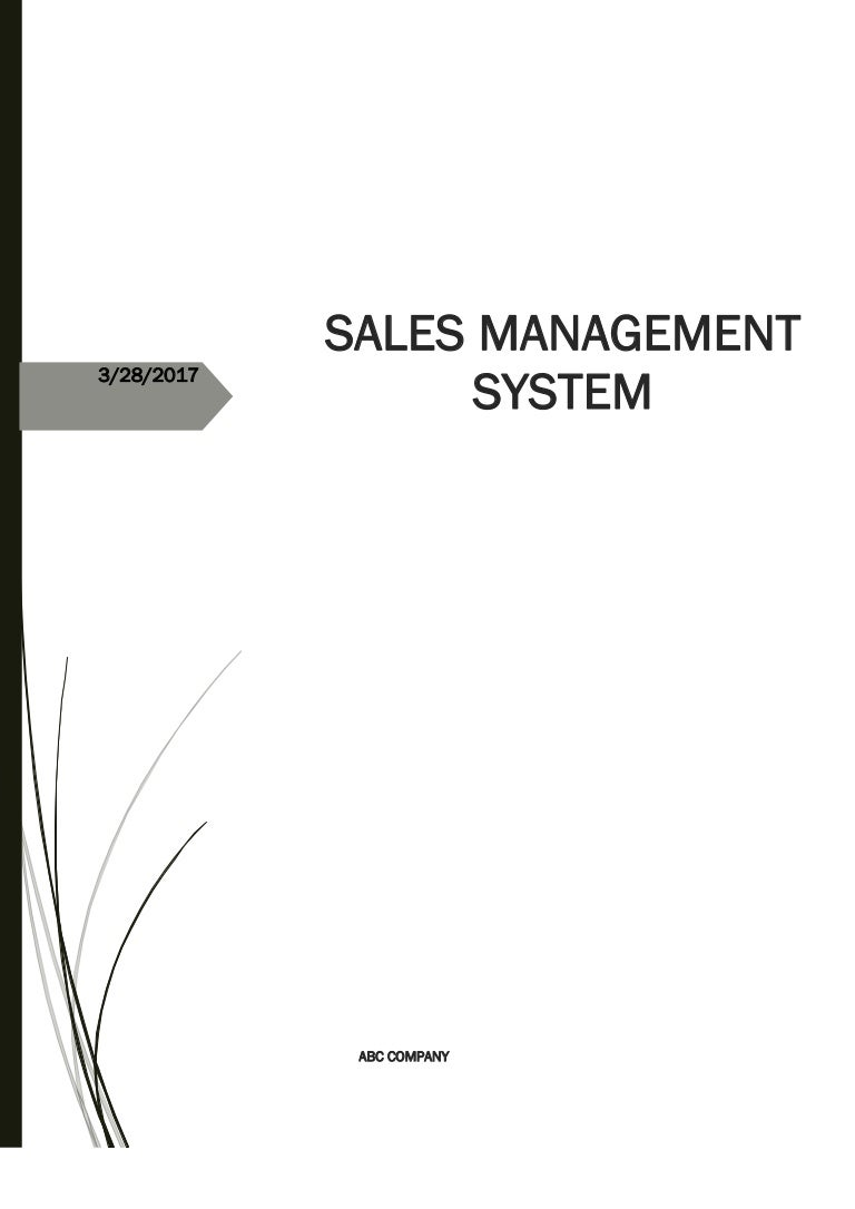 Sales management system for abc company pooptronica