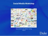 Social Media Training at Duke