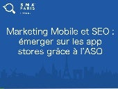 Marketing mobile et SEO : App Store Optimisation ASO