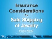 Insurance Considerations for Safe Shipping of Jewelry by Tina Pint from Jeweler's Mutual