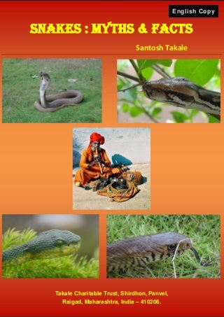 Snakes Myths & Facts in English by Santosh Takale (Revised)
