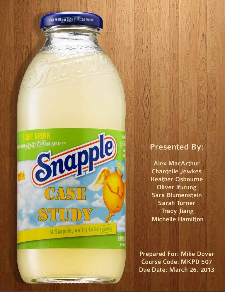 quaker oats and snapple
